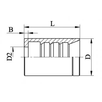 Чаша за хидравличен маркуч с 1 оплетка, със зачистване, AVHB