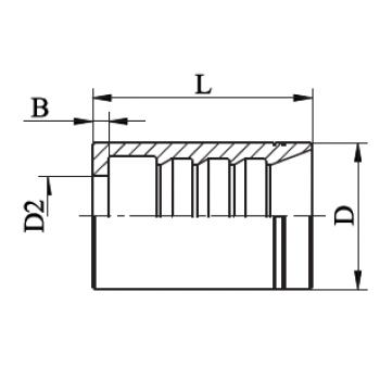 Чаша за хидравличен маркуч с 2 оплетки, със зачистване, AVHB