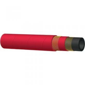 Гумен маркуч за пара и гореща вода STEAM HOSE - 210° С - червен
