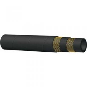 Гумен маркуч за пара и гореща вода STEAM HOSE - 210° С - черен