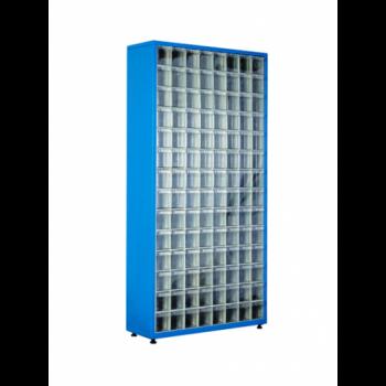 Метален стелаж с 112 кутии за съхранение на накрайници TMD 501-S