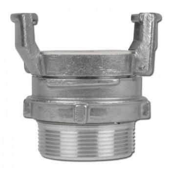 Накрайник тип GUILLEMIN, с контра с външна резба, алуминий, 16bar