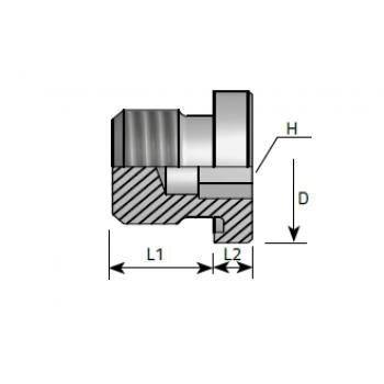 Тапа външна резба, вътрешен шестостен, цолова резба