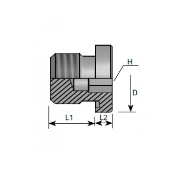 Тапа външна резба, вътрешен шестостен, метрична резба