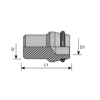 Тапа за гайка, метрична резба DIN 2353 - конус 24°
